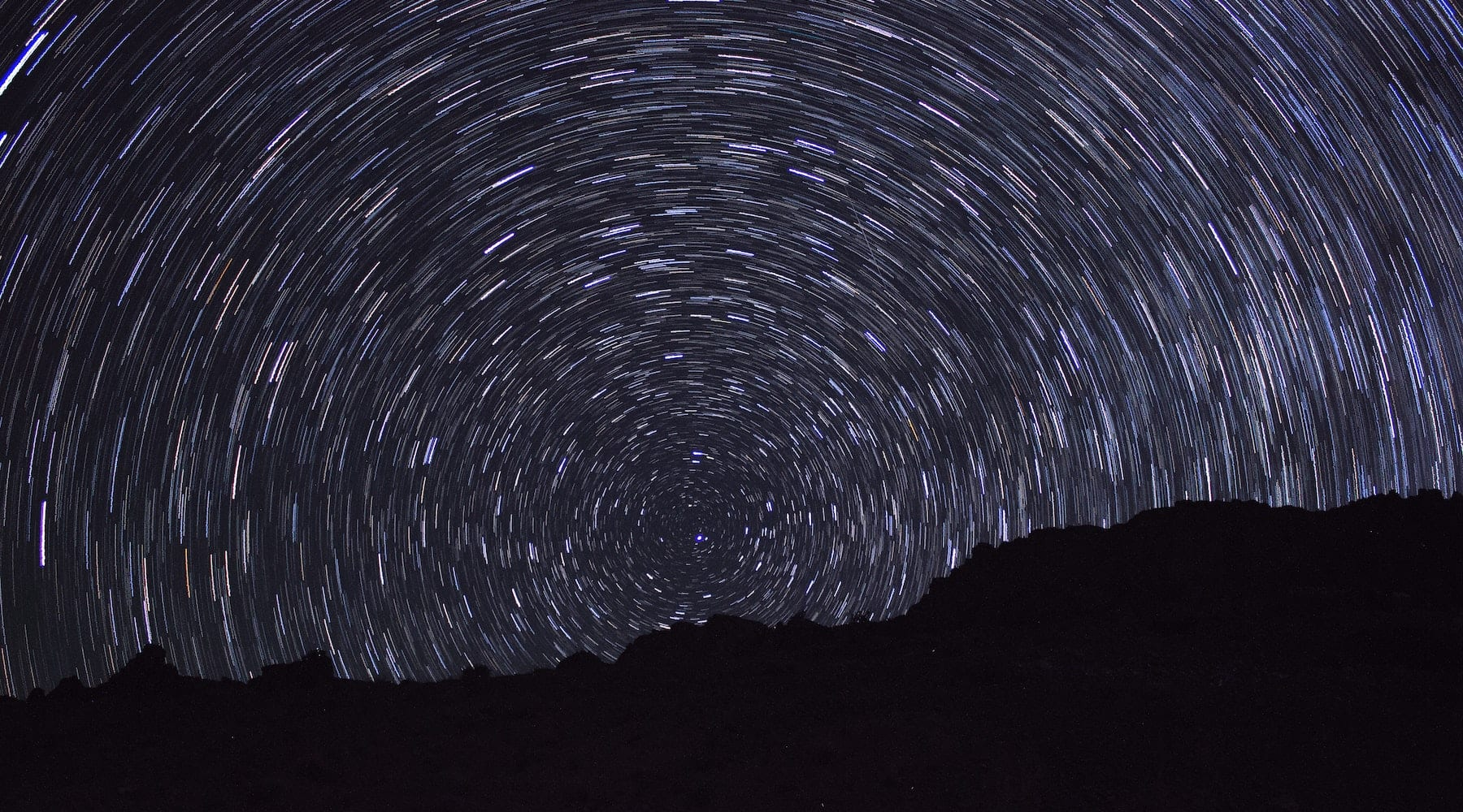 Long Exposure Night Starry Sky Signifying Chaos